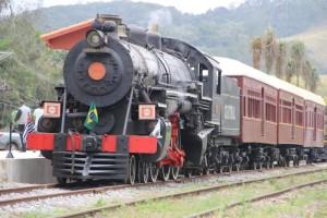 Locomotiva, considera a maior a vapor em operação no País, tem capacidade para transportar 142 passageiros. Foto: Divulgação