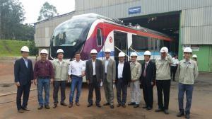 Secretário Carlos Martins e presidente da CTB conhecem novos trens do metrô de Salvador