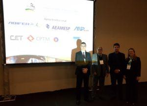 Paulo Sérgio Meca, Oberlan Calçada, Hamilton Trindade e Roberta Marchesi no debate promovido pela ANTP