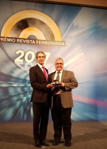 Harald Zwetkoff (ANPTrilhos / ViaQuatro) e Rezier Possidente (Siemens)