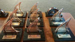 Troféus dos indicados ao Prêmio Ferroviário de Passageiros