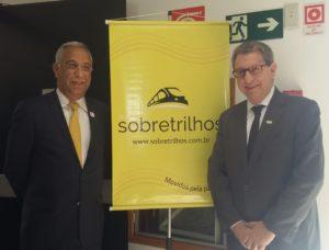 Joubert Flores e Vicente Abate, Conselheiro da ANPTrilhos e presidente da ABIFER