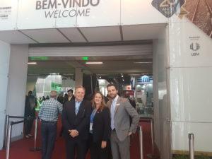 O Diretor Executivo da ANPTrilhos, João Gouveia, e a Superintendente da ANPTrilhos, Roberta Marchesi, prestigiaram a abertura da Feira Negócios nos Trilhos - NT EXPO