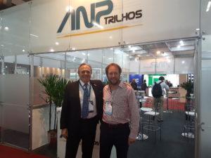 O Presidente da CPTM, Paulo Magalhães, visitou o estande da ANPTrilhos e foi recebido pelo Diretor Executivo da ANPTrilhos, João Gouveia