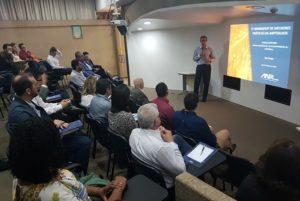 O Diretor Institucional e de Sustentabilidade da ANPTrilhos, Harald Zwetkoff, fez a abertura do 1º Workshop de Melhores Práticas da ANPTrilhos